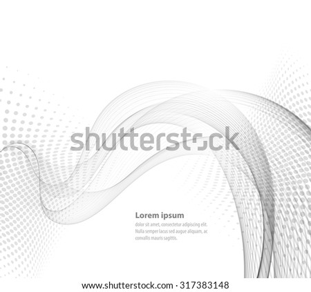 Vector smooth Transparent abstract waves For cover book, brochure, flyer, poster, magazine, website, annual report - stock vector