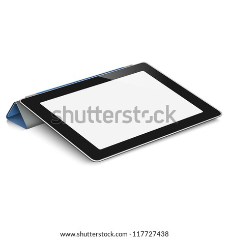 Vector tablet computer (pc) on white background - stock vector