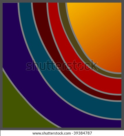 (Vector) Unconventional shades of sunset design, with option for copy space. A jpg version is also available - stock vector