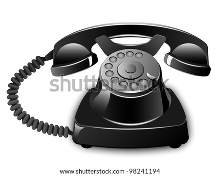 Vector Vintage Telephone - stock vector
