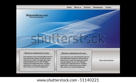 Vector web site design template - stock vector