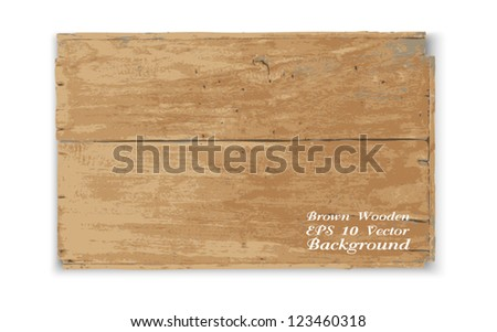 Vector wooden texture on white - stock vector