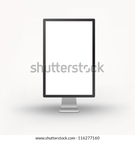 Vertical billboard - stock vector