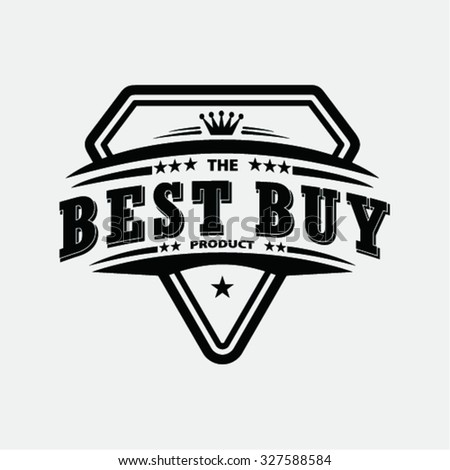 vintage best buy  stamp and elements - stock vector