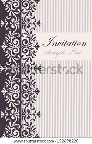 Vintage Card Design or package design  - stock vector