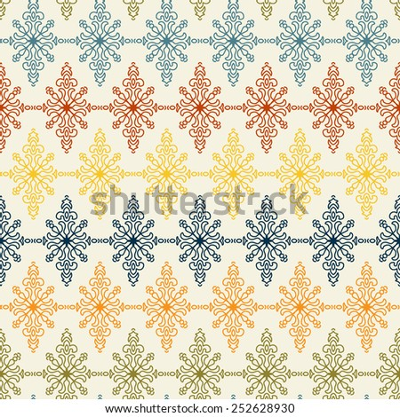 Vintage Colorful floral seamless pattern - stock vector