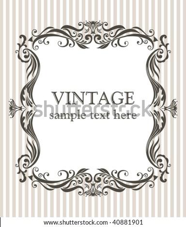 Vintage frame. - stock vector