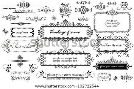 Vintage headers - stock vector