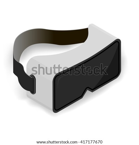 Virtual  goggles vector illustration, isometric.
