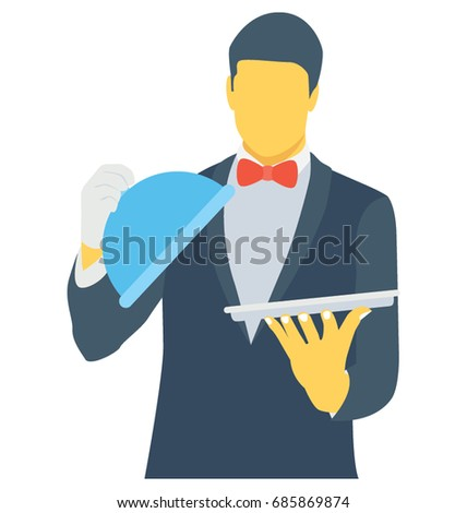 Waiter Color Vector Icon