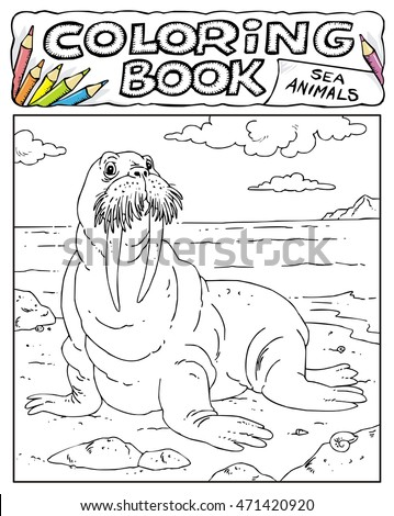 Walrus - Coloring Book Pages - SEA ANIMALS COLLECTION - Page No. 5