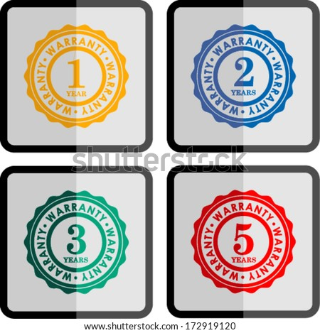 1,2,3,5 warranty , vector illustration  - stock vector