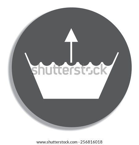 Wash icon. Machine washable . Vector on a grey background - stock vector