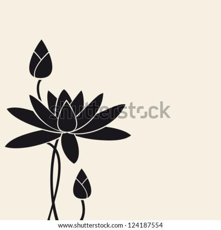 Water-lily.Vector. EPS-10 (non transparent elements,non gradient).