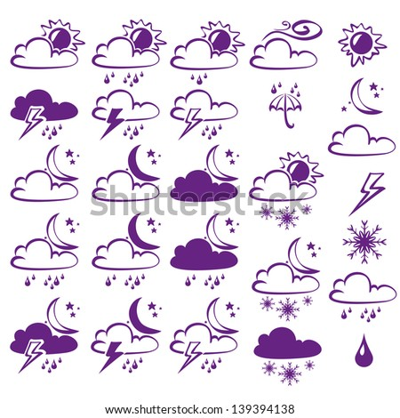Weather Icons Collection  cartoon vector  illustration