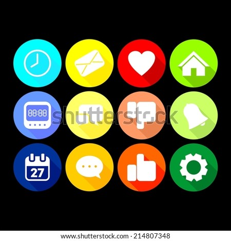 12 web and app Icon Set - stock vector