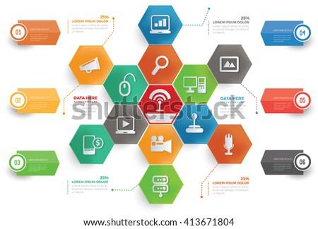 Web concept info graphic design,vector - stock vector