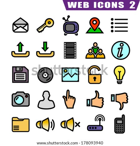 25 web icons  - stock vector