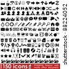 150 web icons for your design - stock vector