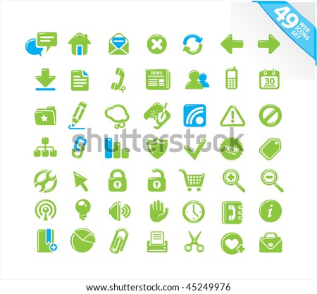 49 web icons set - stock vector