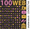 100 web icons set, vector - stock vector