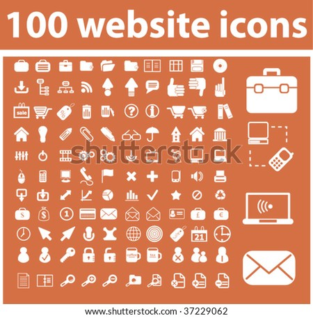 100 website icons. vector
