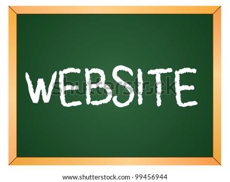 """""""website"""" word written on chalkboard - stock vector"""