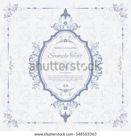 wedding invitation card flyer pages illustration concept contemporary vintage art framemotifs