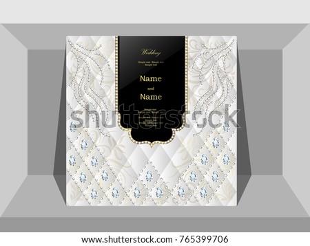 Wedding invitation cards luxury diamond jewelry stock vector wedding invitation cards luxury diamond jewelry stopboris Choice Image