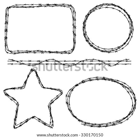 wire in various shape - stock vector