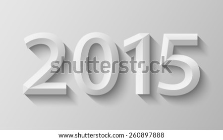 2015 with bevel - stock vector