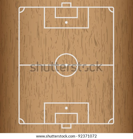 Wooden Stock  Soccer field. - stock vector