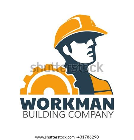 Workerman logo concept.  - stock vector