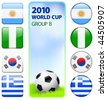 2010 World Cup Group B Original Vector Illustration - stock vector