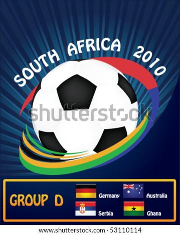 2010 World Cup Group D - stock vector