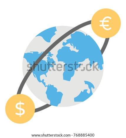 World Currency Currency Symbols Moving Around Stock Vector 768885400