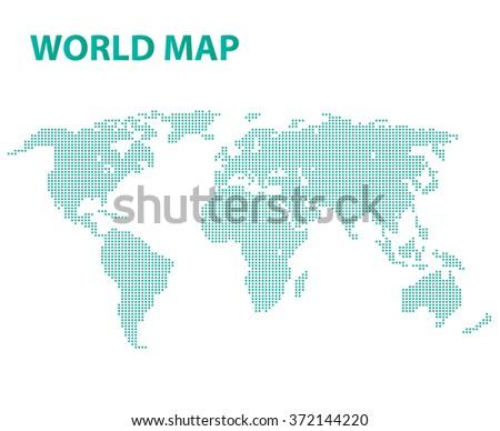 World map Illustration on background - stock vector