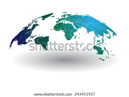 World map vector stock images royalty free images vectors world map vector drawing lines for background and textall elements are separated in editable gumiabroncs