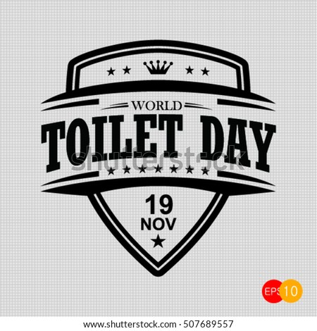 world toilet day vector template