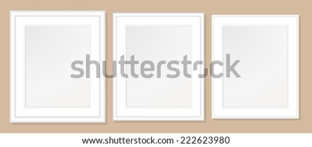 20x24  Double Mats & Frame for 16x20 Photo Art. 3 frame widths: .5, 1, & 1.5 inch. Fully customizable. - stock vector