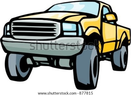 4x4 jeep truck. Check my portfolio for many more images of this series. - stock vector