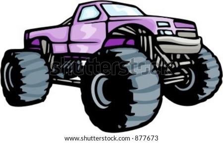 Clipart Monster Truck 4x4 monster truck.