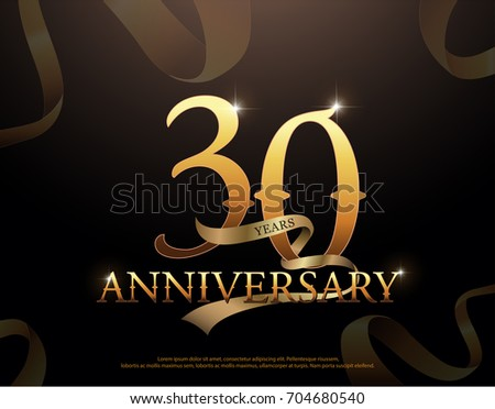 Year anniversary celebration logotype template stock vector