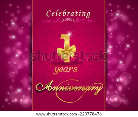 1 year anniversary celebration sparkle design stock vector 220778476 1 year anniversary celebration sparkle design 1st anniversary decorative bow ribbon vibrant background stopboris Image collections