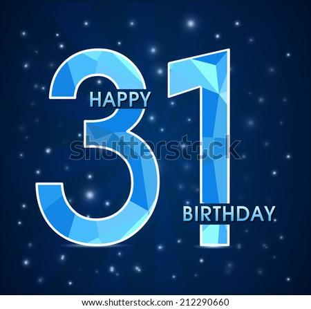 Поздравление с днём рождения на 31год