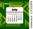 2014 year calendar in vector with arrows. July - stock photo