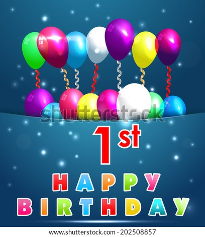 1st Birthday Card Images RoyaltyFree Images Vectors – 1 Birthday Card