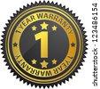 1 year warranty - stock vector