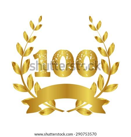 100 years Anniversary - stock vector