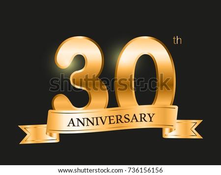 Years anniversary celebration design th anniversary stock